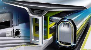 Die automatisierten NGT Cargo-Züge bestehen aus autonomen Einzelwagen mit eigenem Antrieb und Triebköpfen, die je nach Bedarf zu größeren Zügen zusammengestellt werden. Die Einzelwagen werden beim Kunden oder in Logistik-Zentren be- bzw. entladen.
