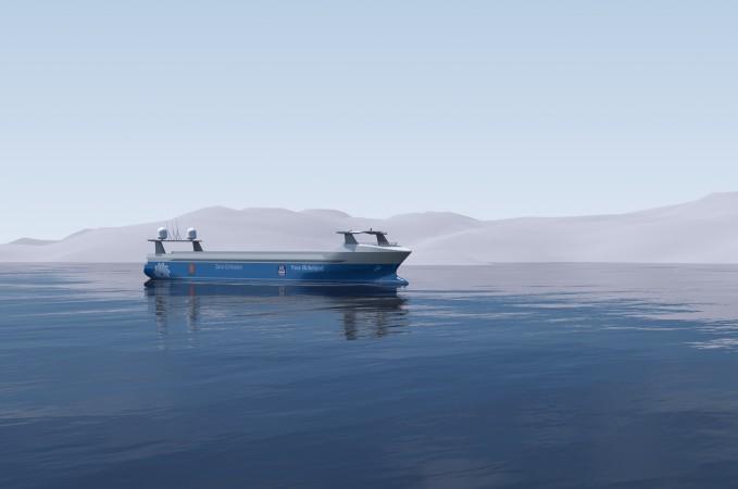 Die «Yara Birkeland» wird Küstengewässer vor Südnorwegen befahren. (#1)