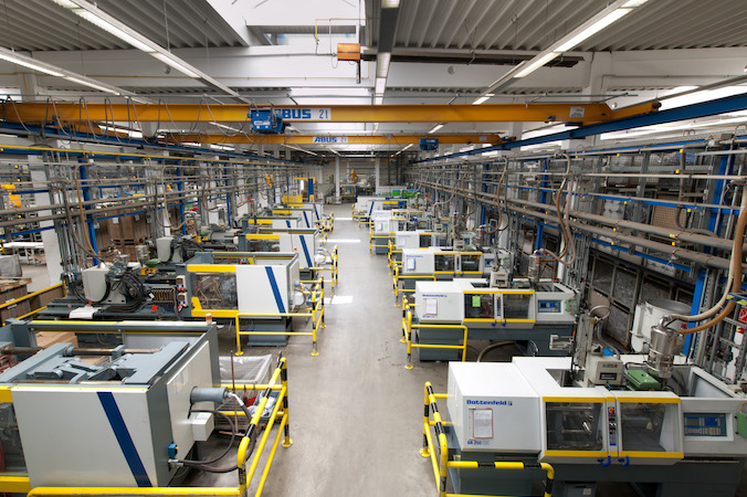 Die heutige Produktionsstätte für Spritzguss der Gebrüder Schmidt KG.