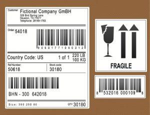 Kennzeichnung: Etikett mit Barcode (#01)