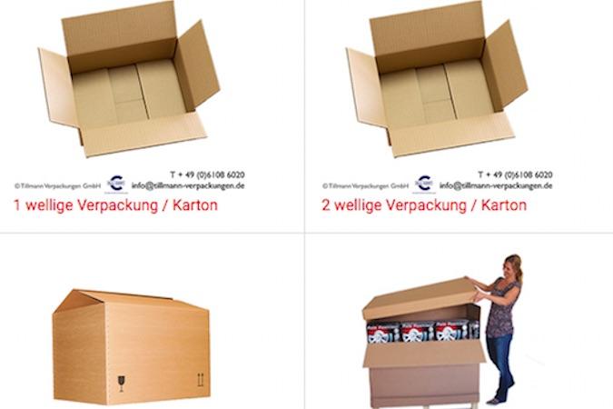 Für Kunden, die einen Versand ihrer Produkte anbieten, hat Tillmann Verpackungen® verschiedene Versandkartons im Angebot, die alle FSC®-zertifiziert sind und klimaneutral produziert werden.