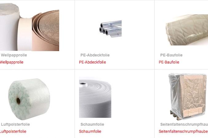 Das Standardsortiment der Tillmann Verpackungen® besteht aus mehr als 250 Artikeln, die am Standort vorrätig sind.