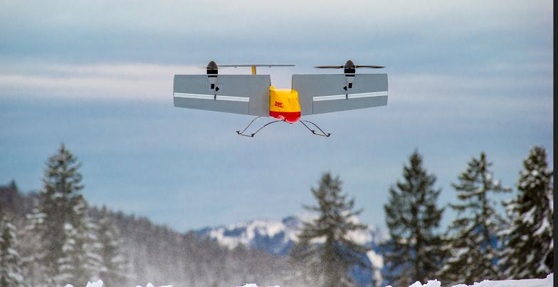 Aufgrund der immer schwierigeren Verkehrssituation in vielen deutschen Städten könnten Drohnen eine perfekte Lösung darstellen, um die Pakete schnell und kostengünstig zuzustellen. (#03)