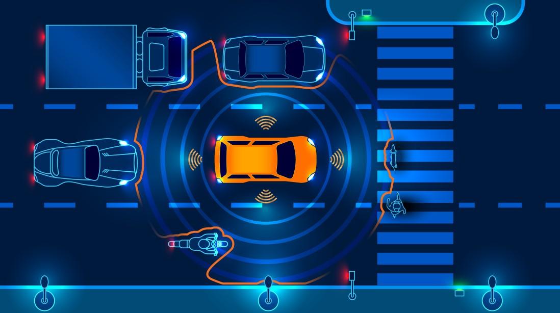 Das autonome Fahren nimmt Einfluss auf die Fahrzeugarchitektur. Die Sensoren treiben das zu handhabende Datenvolumen und die Systemkomplexität hoch. (Foto: shutterstock - Andrey Suslov, #2)