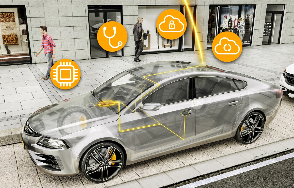 Der Continental In-Vehicle-Server ermöglicht Over-the-Air-Updates für alle vernetzten Elektronikkomponenten im Fahrzeug. (Foto: Continental AG, #4)