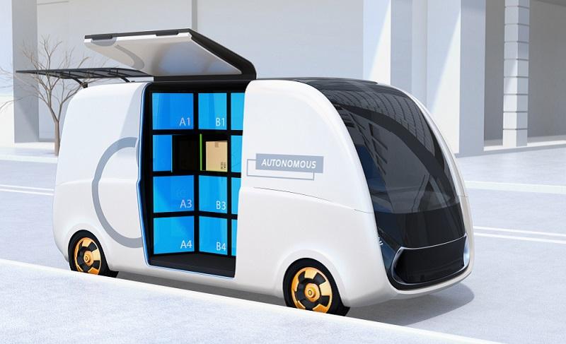 So könnte eine autonome mobile Packstation aussehen. (#03)