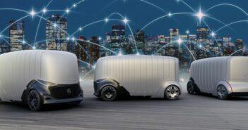 Mercedes: autonome Fahrzeuge für die Mobilität der Zukunft. Auf dem Foto zu sehen: Der Vision Urbanetic mit dem Cargo-Modul. (Foto: Daimler AG)
