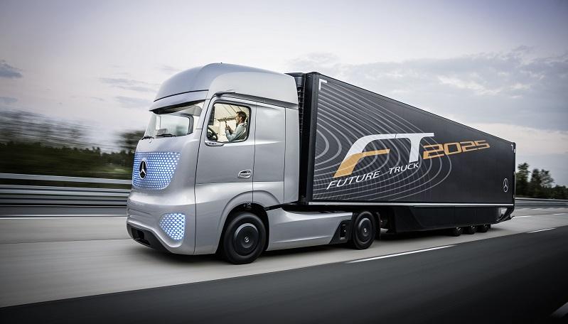 Der Future Truck 2025: ein teilautonomes Fahrzeug von Mercedes