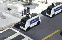 Neolix: autonomes Lieferfahrzeug im Central-Business-District ( Bildnachweis: NEOLIX )